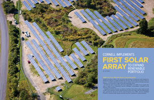 Cornell Implements First Solar Array to Expand Renewable Portfolio