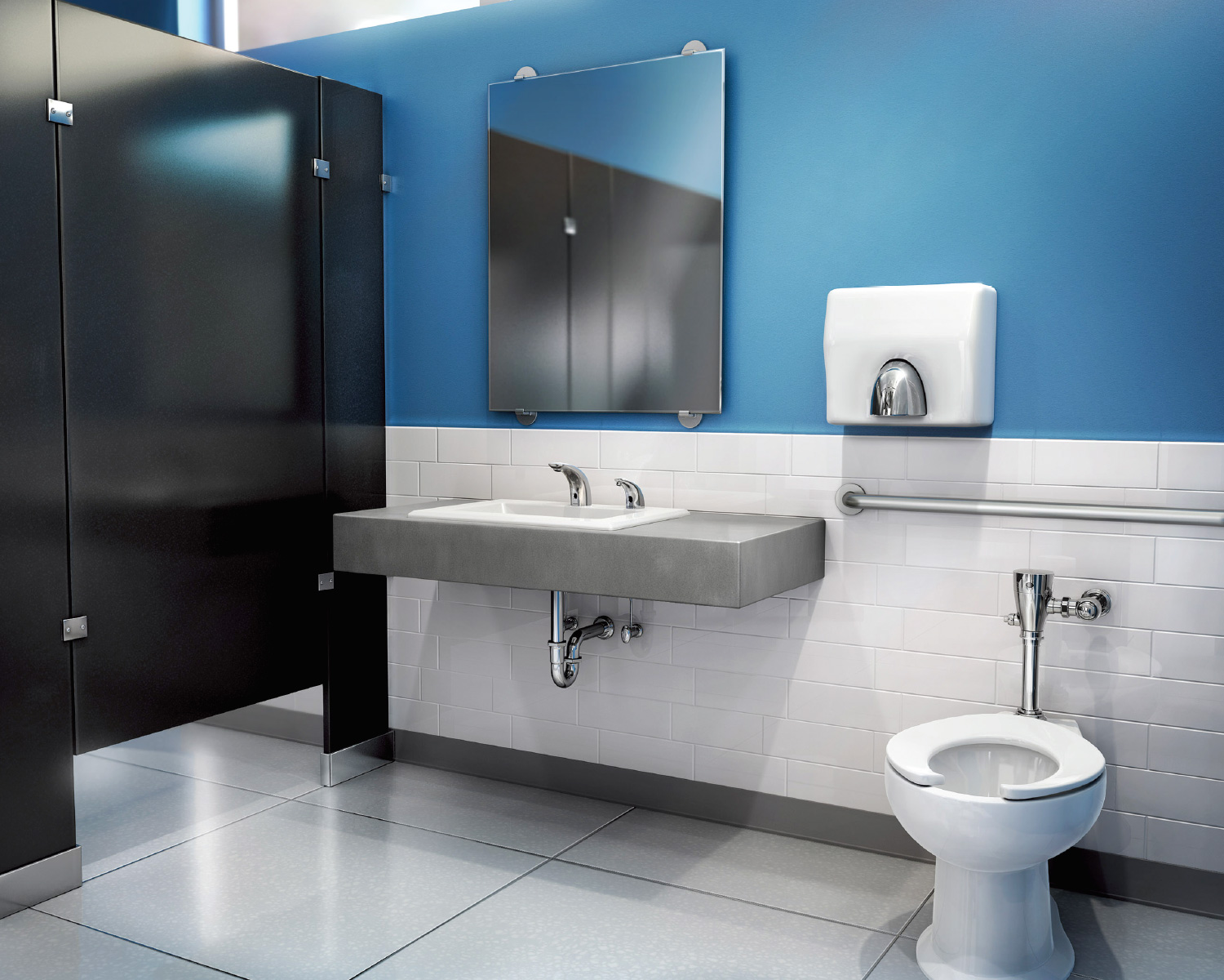 Technology Flows Into Commercial Restrooms Ada Compliance